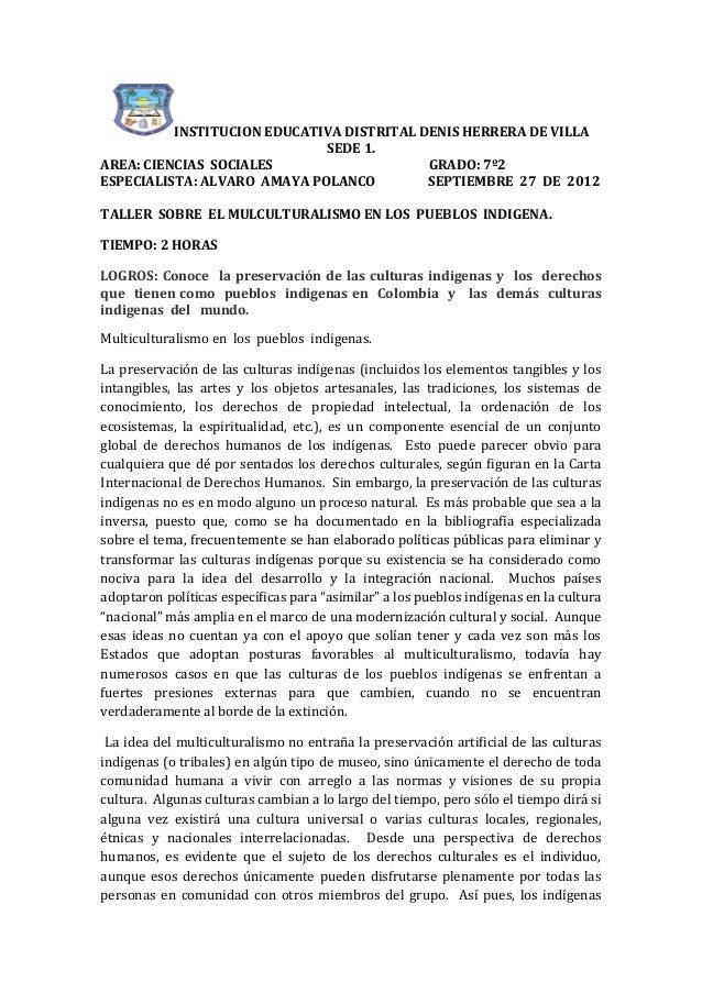 Multiculturalismo en  los  pueblos  indigenas..7º2..sept.27 2012