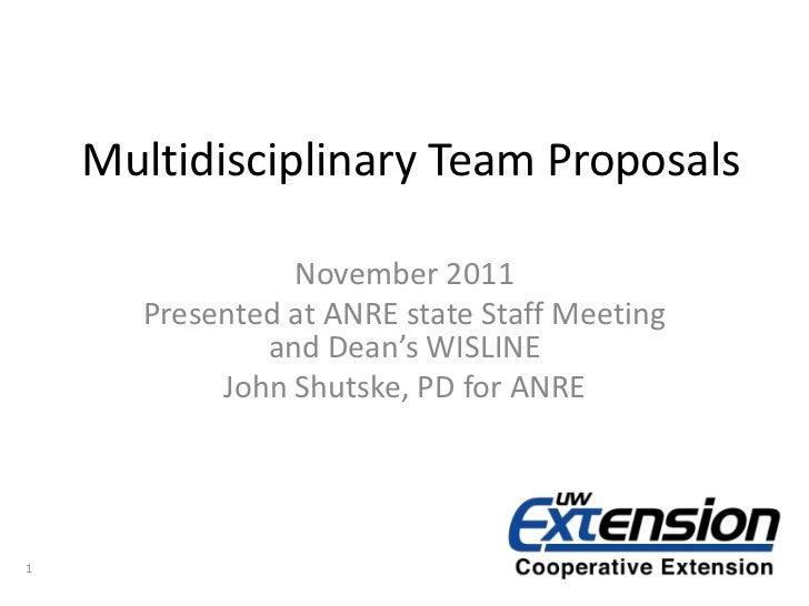 Multi-Disciplinary Team/Issue Identification Process