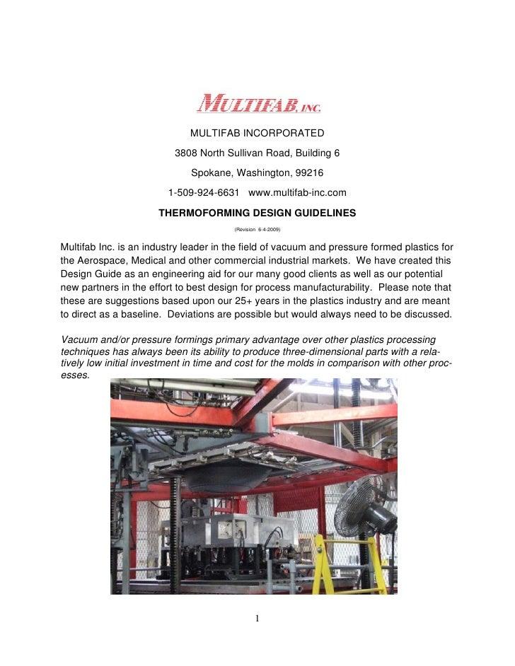 MULTIFAB INCORPORATED                           3808 North Sullivan Road, Building 6                               Spokane...