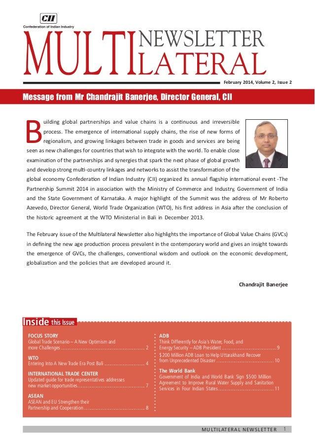 Multilateral Newsletter, February 2014