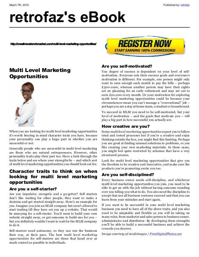 Multi level marketing_opportunities