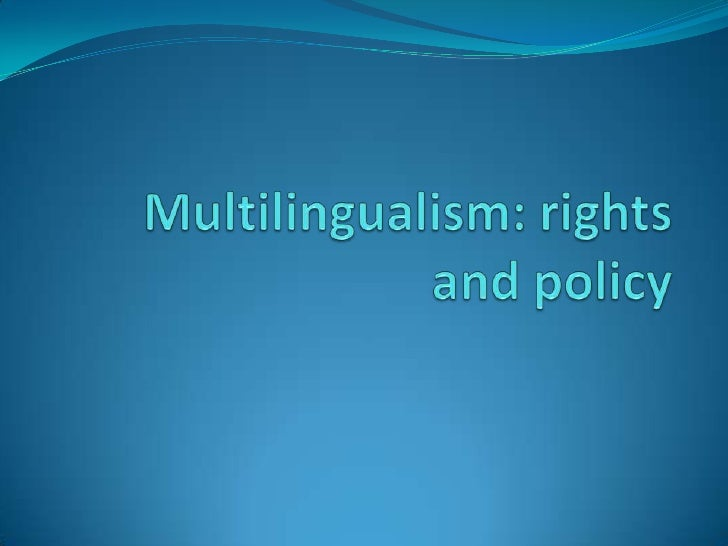 Multilingualism Rights And Policy