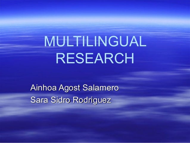 Multilingual research