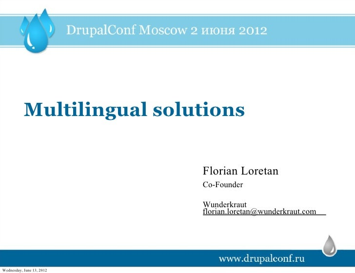 Multilingual solutions florian loretan