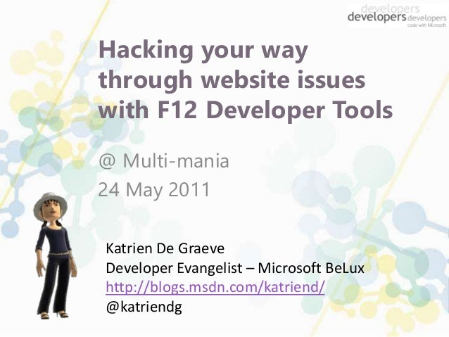 Multi-mania: Hacking your way through website issues with F12 devtools