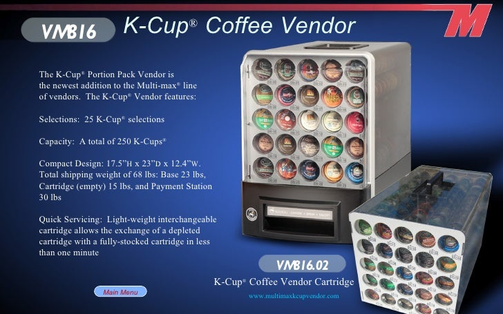 K Catalog The K-Cup   Vendor