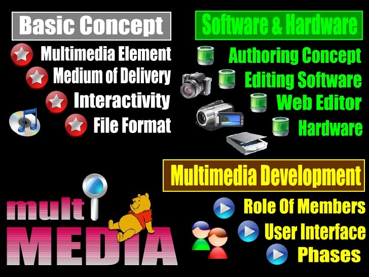 Medium of Delivery Software & Hardware Phases Role Of Members User Interface Editing Software Hardware Authoring Concept W...