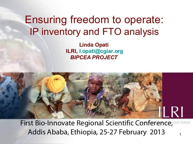 Ensuring freedom to operate: IP inventory and FTO analysis