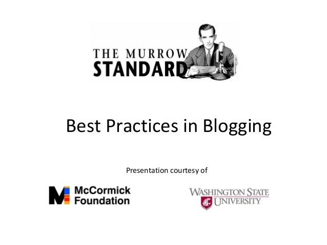 Best Practices in Blogging