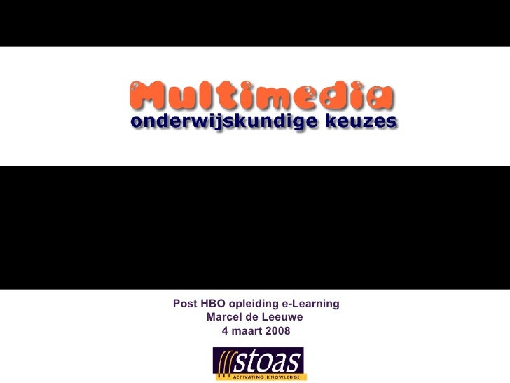 Multimedia gebruik in e-Learning_ 04 03 08