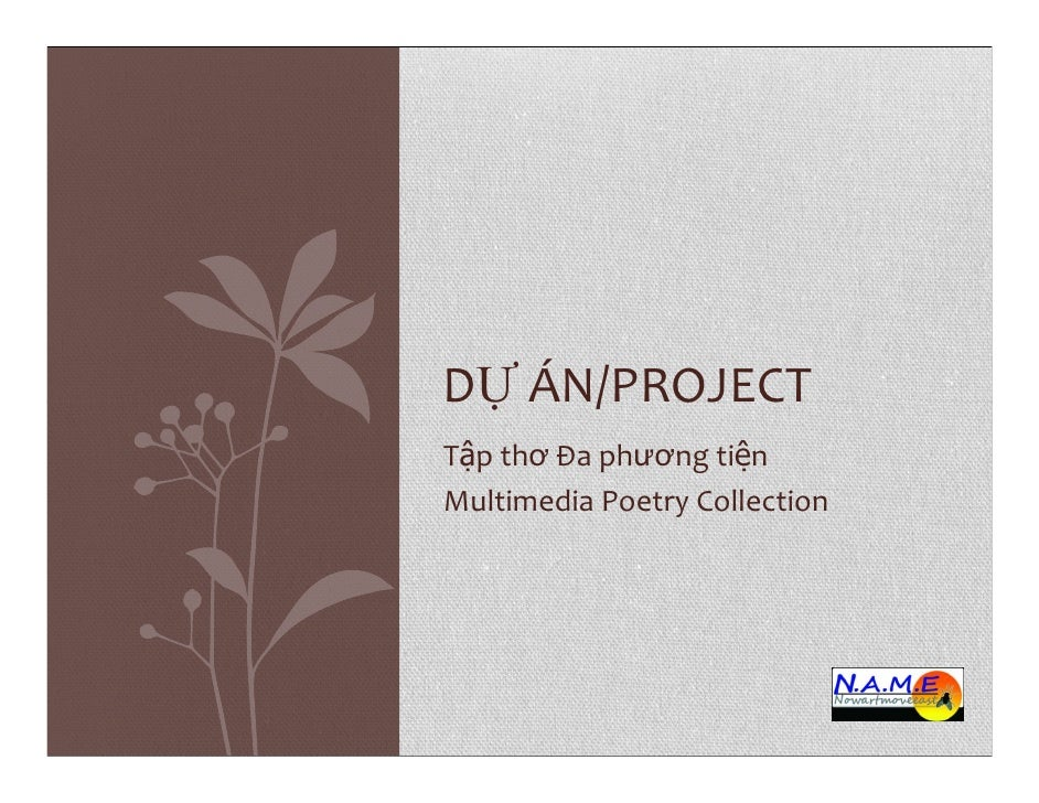 NAME | Art Space - Multimedia Poetry Collection