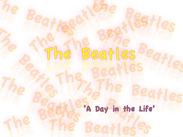 LY0872076 The Beatles: A Day in the Life