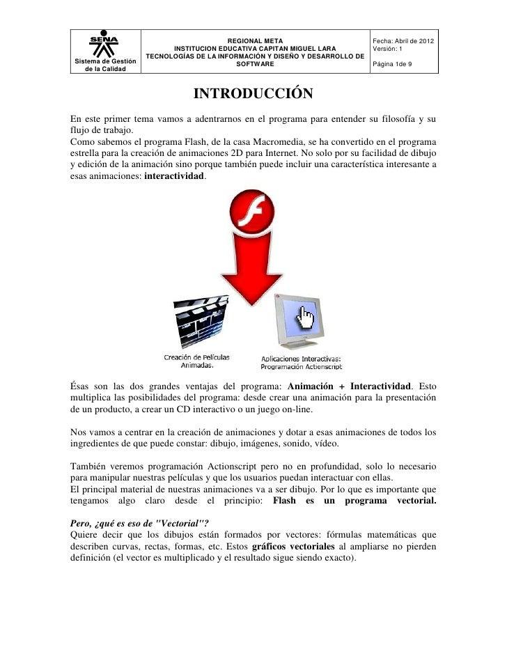 REGIONAL META                       Fecha: Abril de 2012                            INSTITUCION EDUCATIVA CAPITAN MIGUEL L...