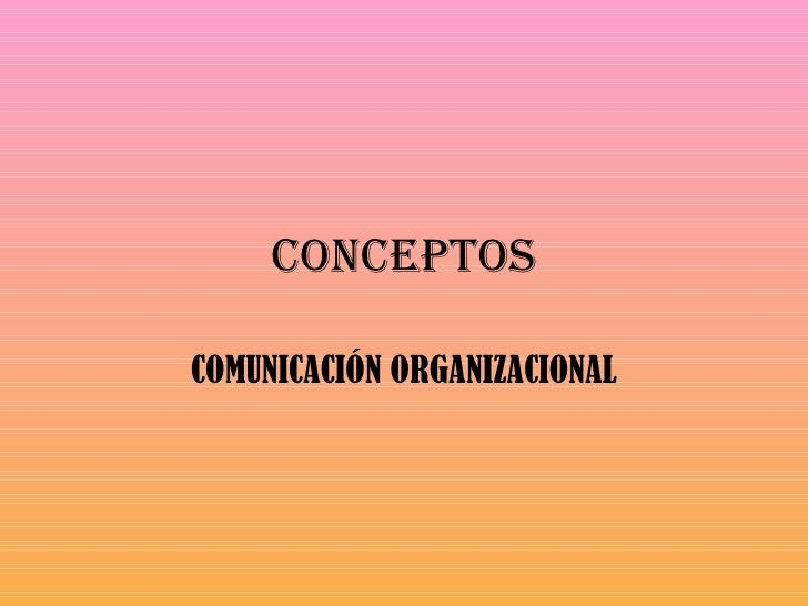 conceptos comunicación