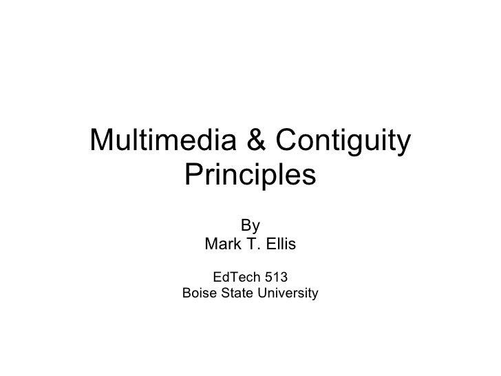 Multimedia & Contiguity by Mark Ellis