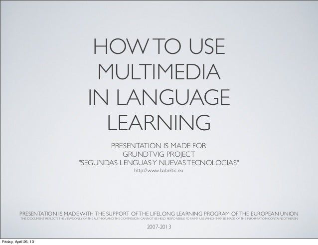 Multimedia in language LEARNING