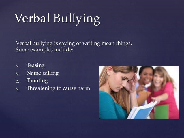 essay verbal bullying