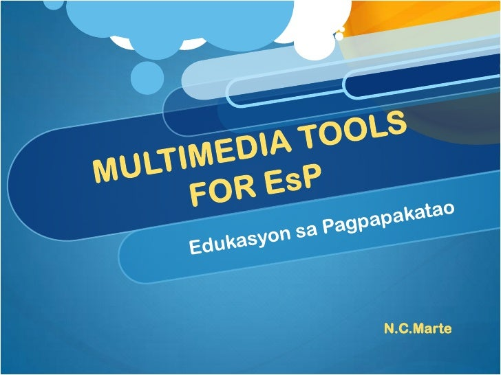 Multimedia tools for EsP part 1