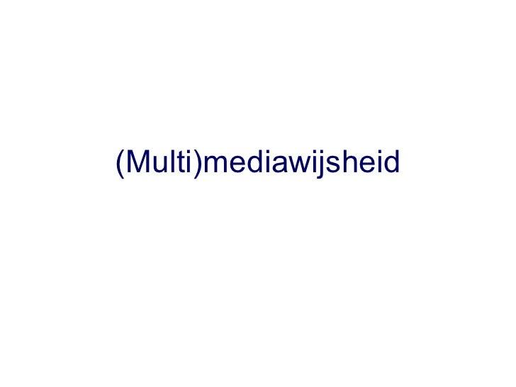 Multimediawijsheid