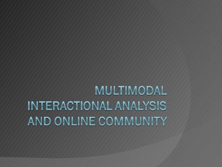 Multimodal analysis2