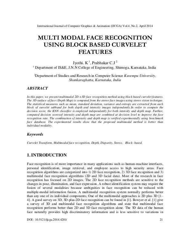 International Journal of Computer Graphics & Animation (IJCGA) Vol.4, No.2, April 2014 DOI : 10.5121/ijcga.2014.4203 21 MU...