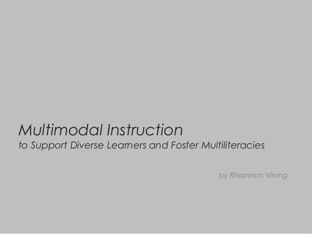 Multimodal Instruction to Support Diverse Learners and Foster Multiliteracies by Rhiannon Vining