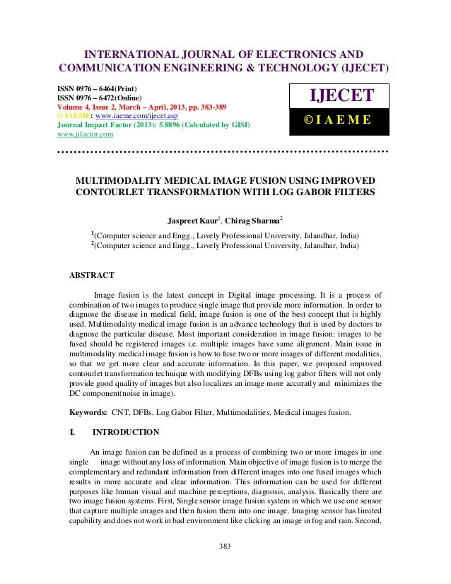 Multimodality medical image fusion using improved contourlet transformation