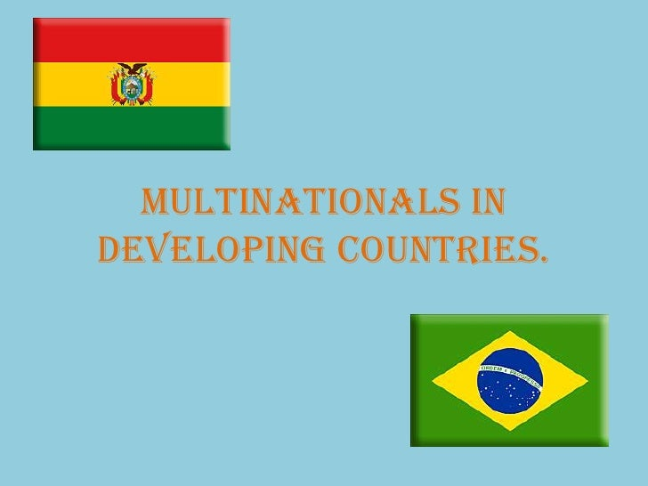 Multinationals In Developing Countries.<br />