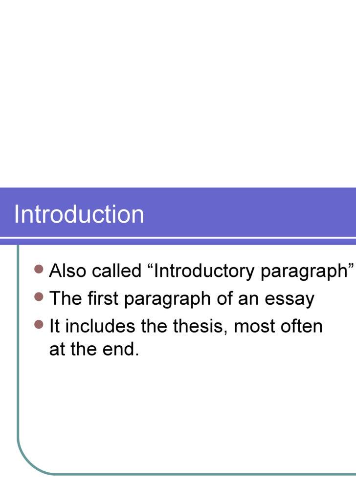 multi paragraph essay terminology