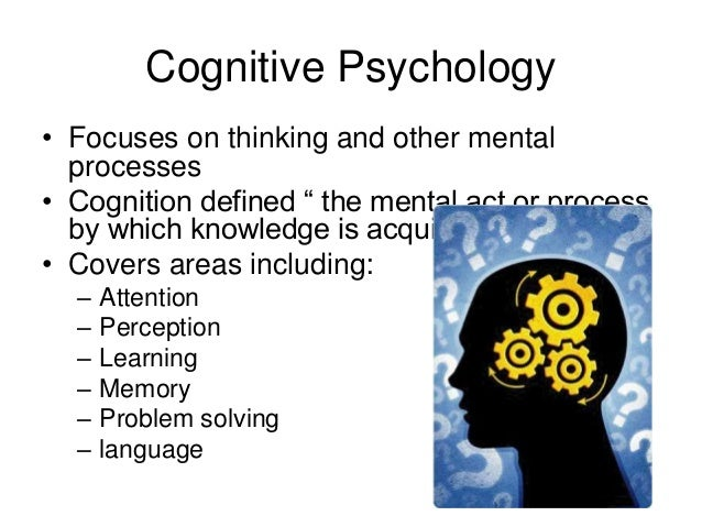 Cognitive psychology essay topics