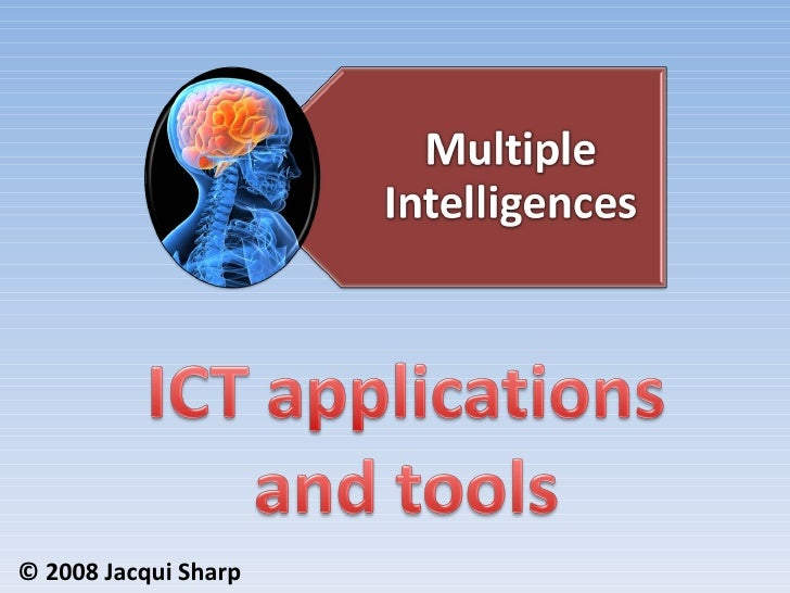 Multiple Intelligences ICT Applications and Tools