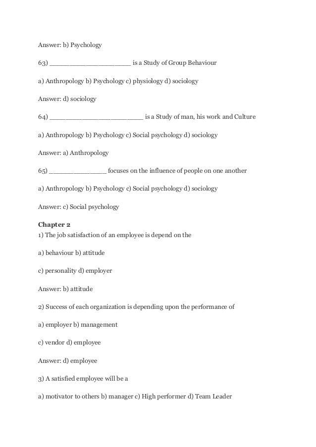 Sociology Essay Questions