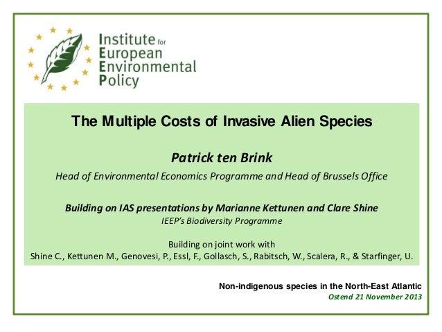 The Multiple Costs of Invasive Alien Species Patrick ten Brink Head of Environmental Economics Programme and Head of Bruss...