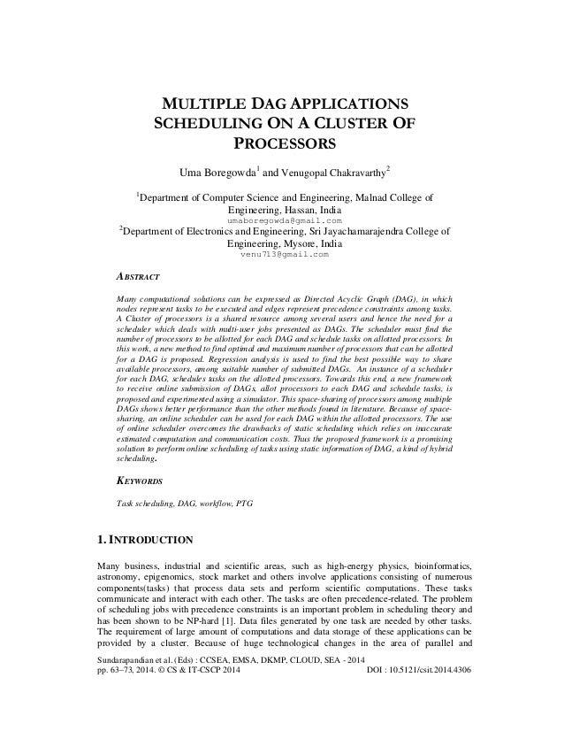 Sundarapandian et al. (Eds) : CCSEA, EMSA, DKMP, CLOUD, SEA - 2014 pp. 63–73, 2014. © CS & IT-CSCP 2014 DOI : 10.5121/csit...