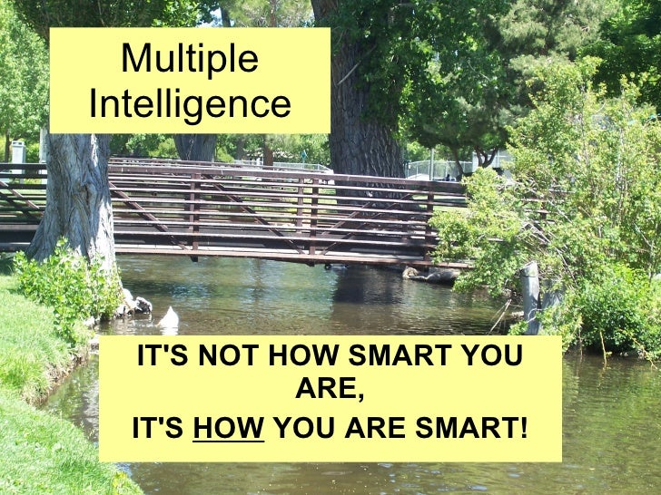 Multiple Intelligence IT'S NOT HOW SMART YOU ARE, IT'S HOW YOU ARE SMART!