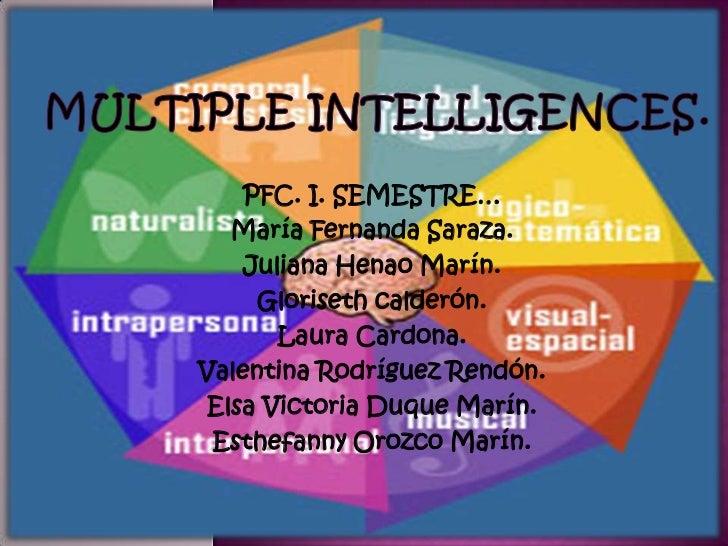 Multiple intelligences   ingles