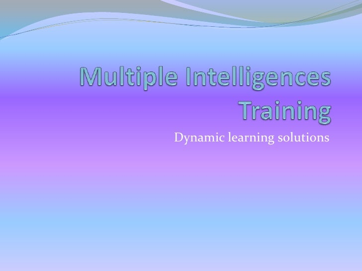 Multiple Intelligences Training