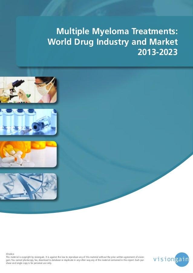 Multiple myeloma treatments world drug industry and market 2013 2023