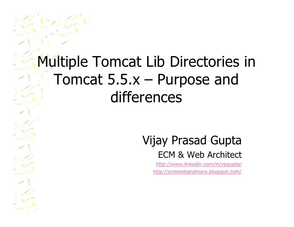 Multiple Tomcat Lib Directories in Tomcat 5.5.x – Purpose and differences