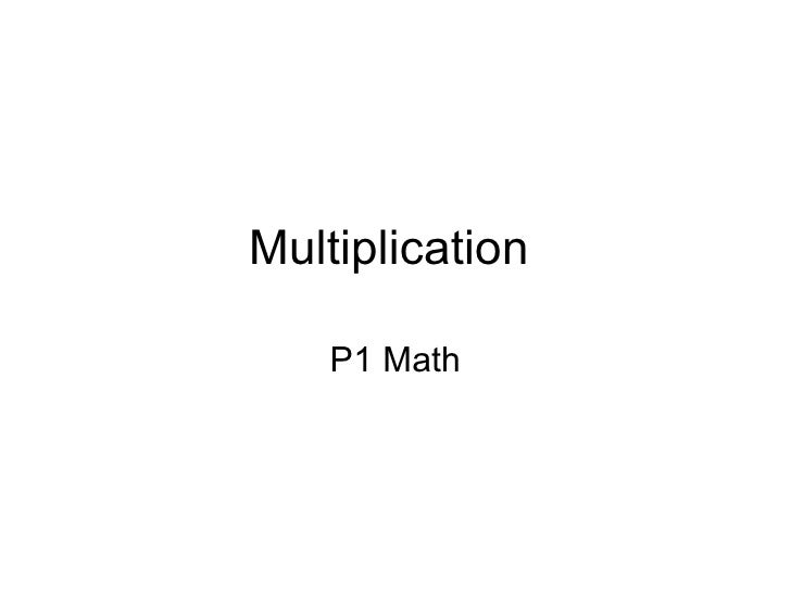 P1 Math Learning for Multiplication