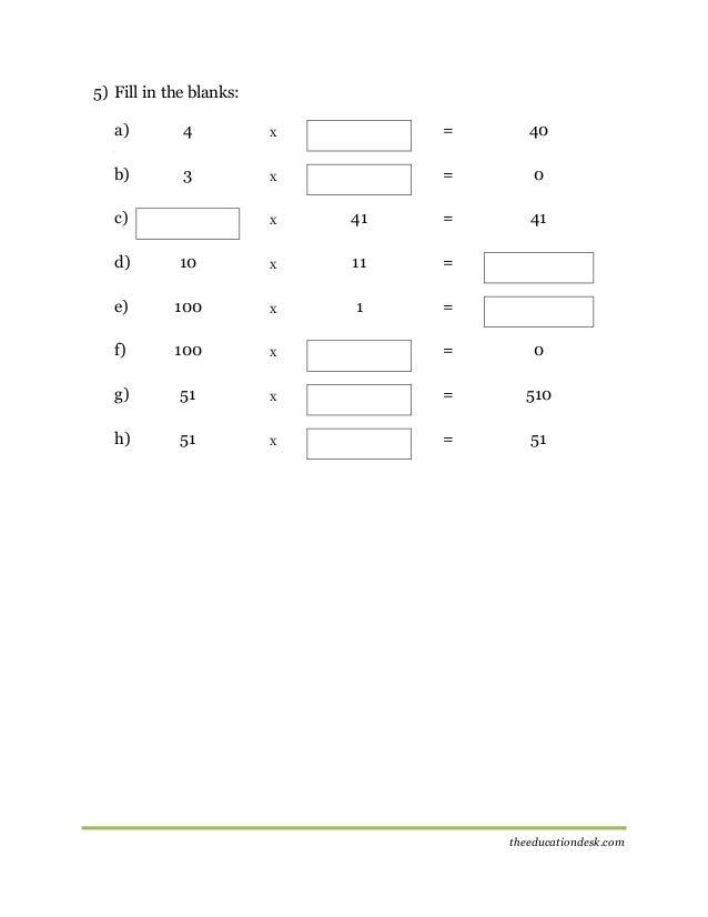 math worksheet : maths multiplication worksheet cbse grade ii  : 0 5 Multiplication Worksheets