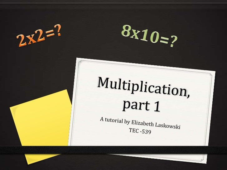Today, we will learn…0 What multiplication is0 Why multiplication is important0 When to use multiplication versus when to ...