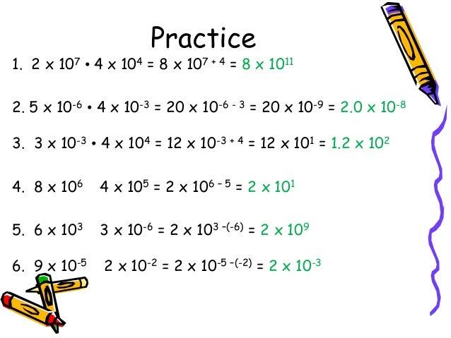 Solve scientific notation problems