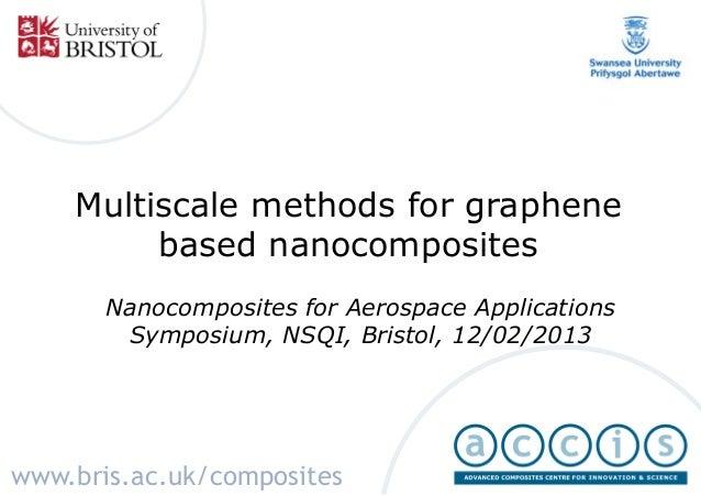 Multiscale methods for graphene based nanocomposites