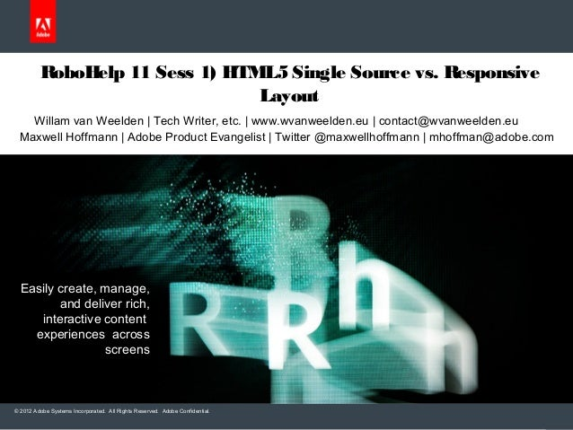 Multiscreen HTML5 and Responsive HTML55