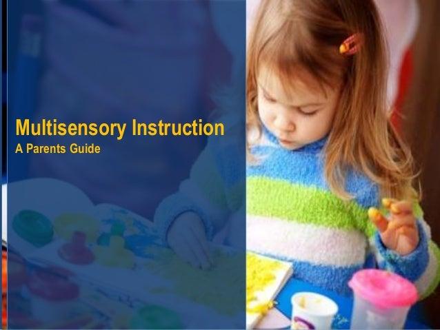 Multisensory instruction
