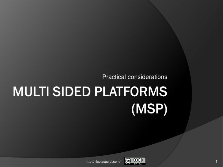 Multi sided platforms_msp