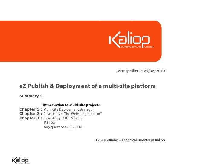 eZ Publish & Deployment of a multi-site platform