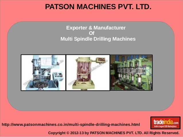Multi Spindle Drilling Machines Exporter, Manufacturer, Pune