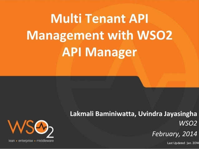 Multi Tenant API management with WSO2 API Manager